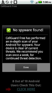 CellGuard Free Anti Spy - screenshot thumbnail