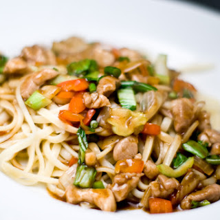 Noodles With Black Bean Sauce.