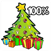 Christmas tree Battery Widget