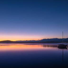Silent sunset by Massimiliano Giuliani - Landscapes Sunsets & Sunrises