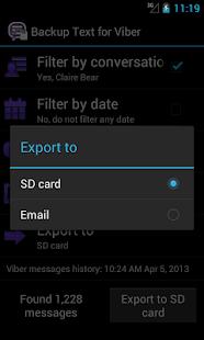 Backup Text for Viber - screenshot thumbnail