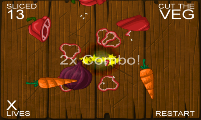 Cut the Veg. Ninja Edition - screenshot