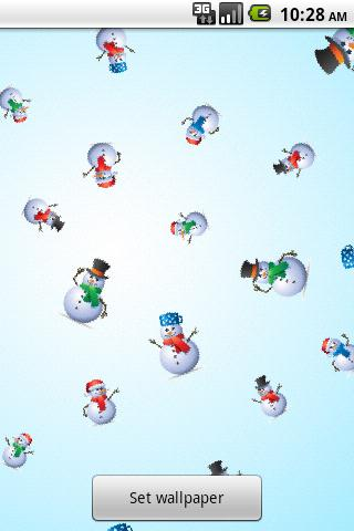 SnowMan Live wallpaper - screenshot