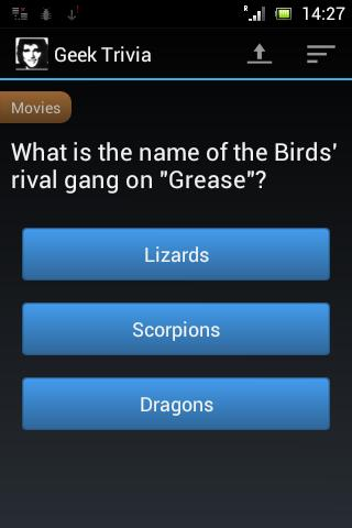 Geek Trivia- screenshot
