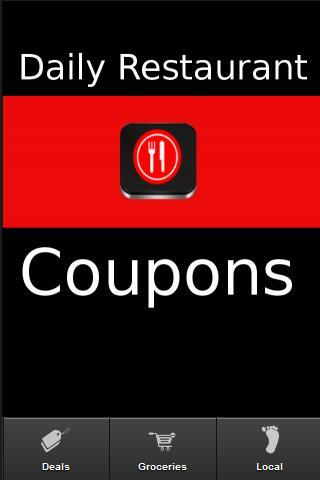 Daily Restaurant Coupons - screenshot