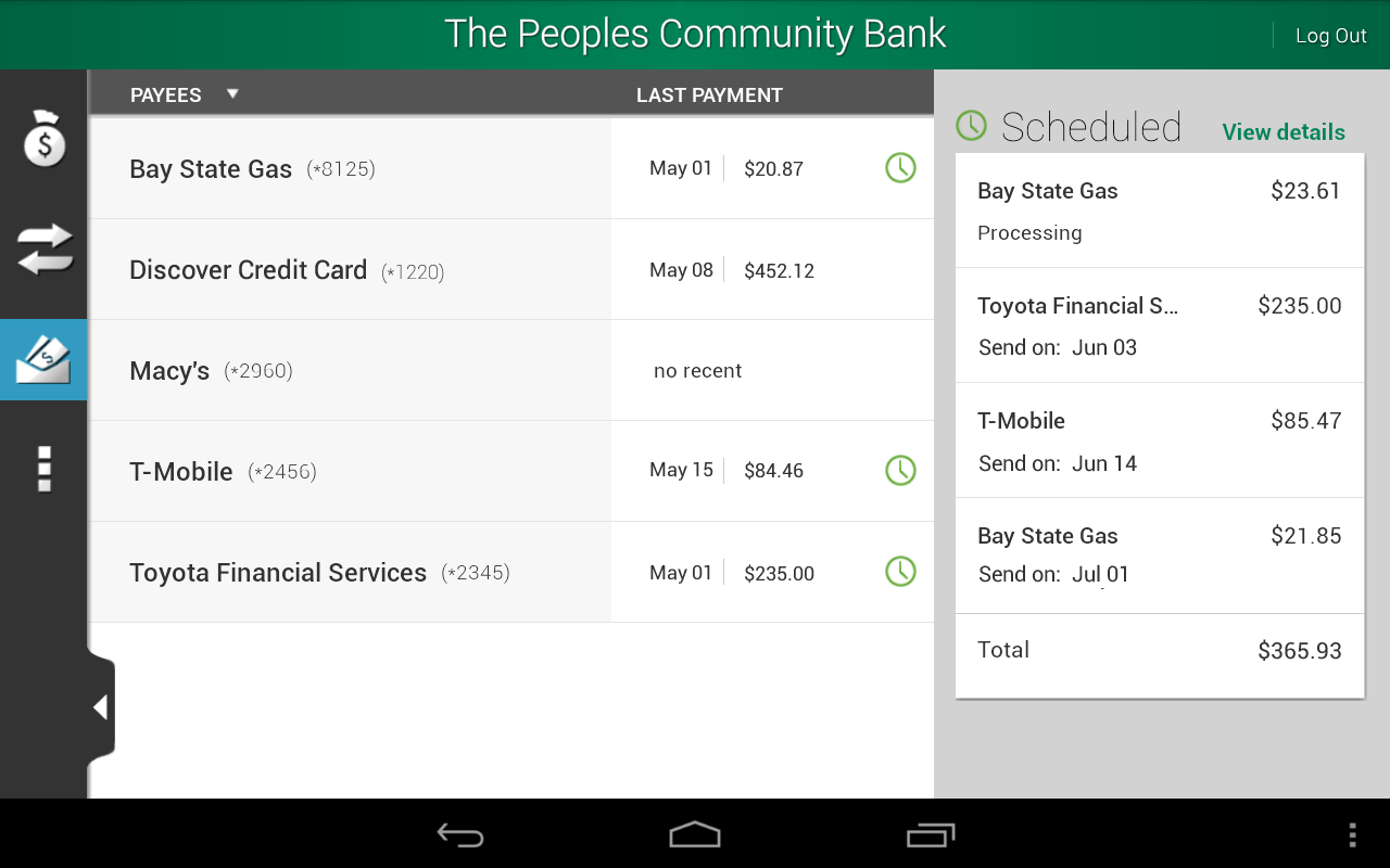 The Peoples Community Bank - screenshot