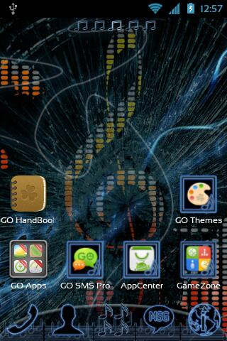 GO Launcher EX Music Theme - screenshot