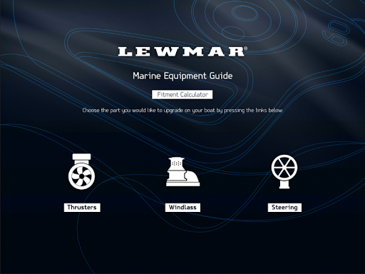 Lewmar Fitment Calculator