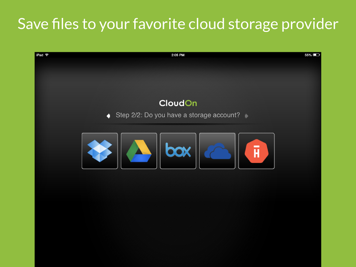 CloudOn (with MS Office Suite) - screenshot