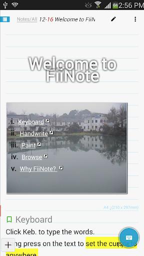 FiiNote Full function Key