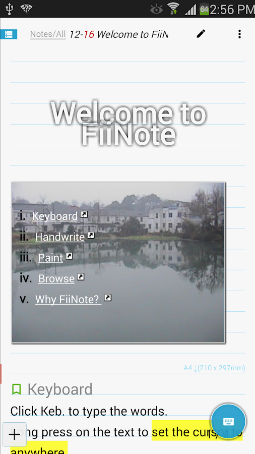 FiiNote Full function Key - screenshot