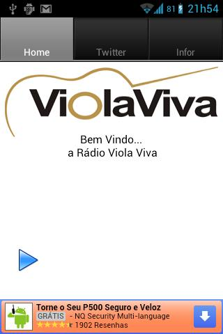 Rádio Viola viva - screenshot