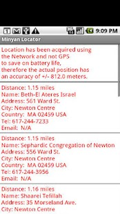 Minyan Locator - screenshot thumbnail