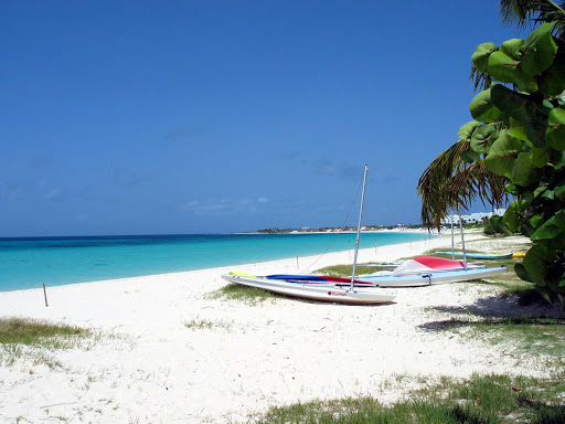 A beach scene in Anguilla.