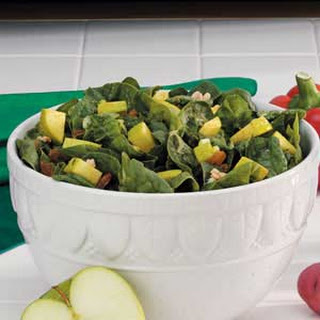 Apple-Raisin Spinach Salad.