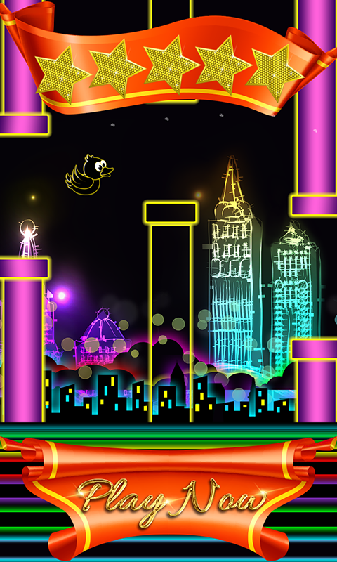 Floppy Bird: Neon Theme - screenshot