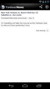 ZM: Yankees News - screenshot thumbnail