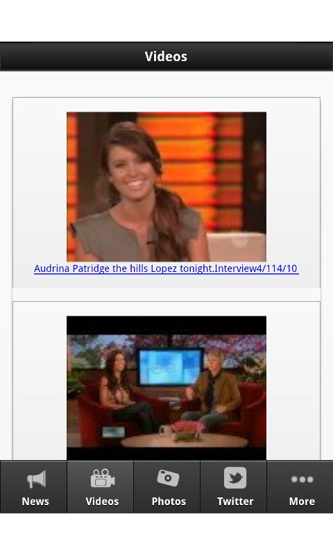 Audrina Patridge - screenshot