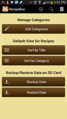 Recipe Box - screenshot