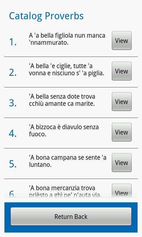 Neapolitan Proverbs- screenshot