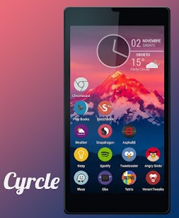 Cyrcle Icon Theme Apex Go Nova - screenshot