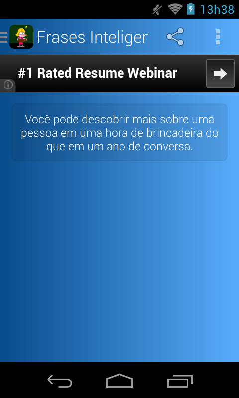 Frases Inteligentes Português - screenshot