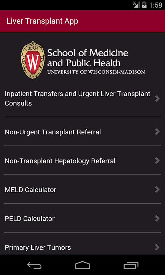 UW Liver Transplant- screenshot