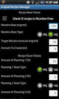 Screenshot of eLiquid Recipe Manager Pro