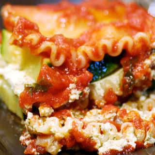 Herbed Tofu and Zucchini Lasagna.