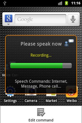 Voice Control without internet - screenshot