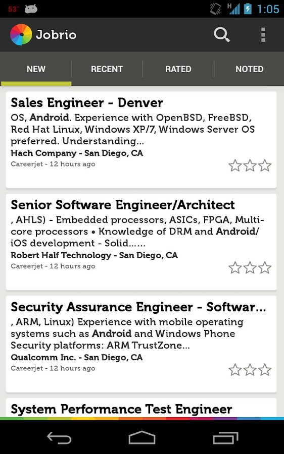 Jobrio Job Search - screenshot