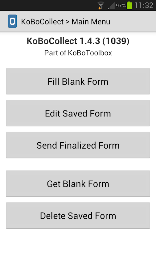 Setting up and using your Kobo collect forms on your Android