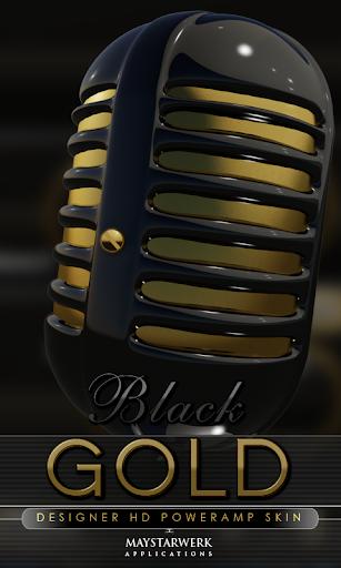 Poweramp skin black gold