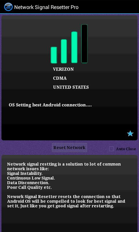 Network Signal Resetter- screenshot
