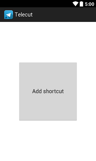 Telecut - Telegram shortcuts