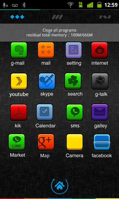 Color Box GO Launcher EX Theme - screenshot