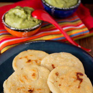 Cheese Pupusas w/Tomatillo Avocado Salsa - Absolutely Avocados by Gaby Dalkin