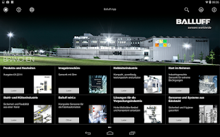 Screenshot of Balluff Product Catalog