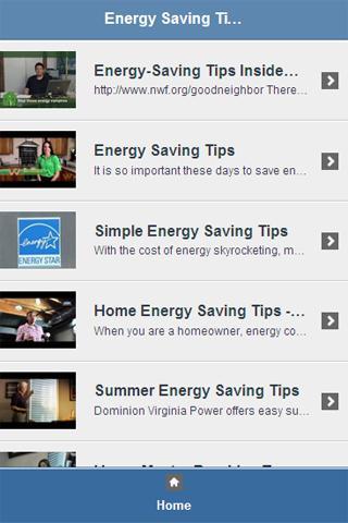 Energy Saving Tips Video