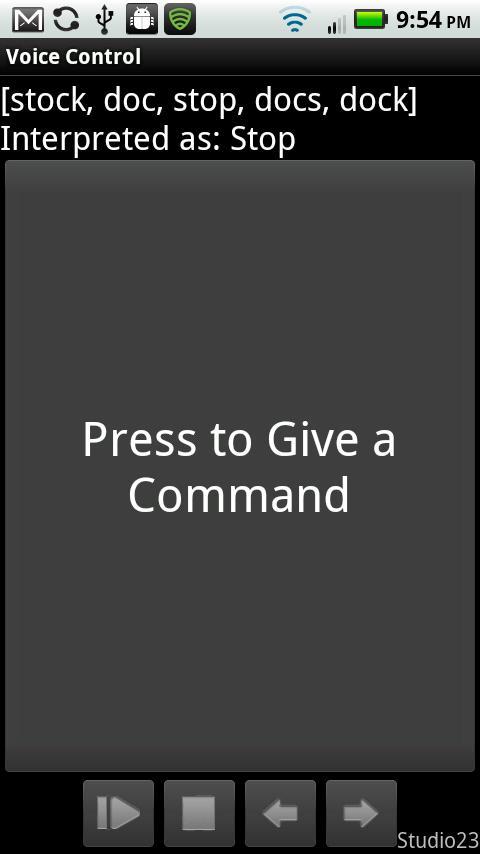 Voice Control- screenshot