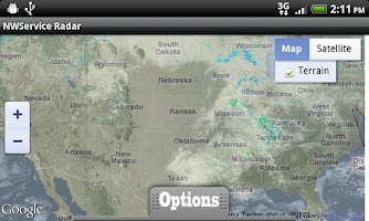 Screenshot of NWService Radar and Weather