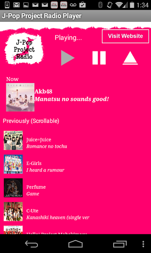 J-Pop Project Radio Player