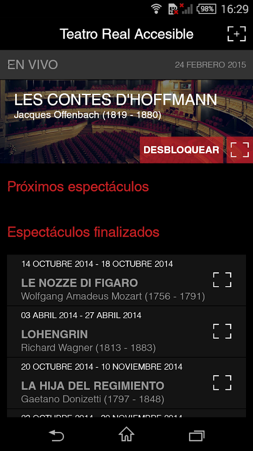Teatro Real Accesible- screenshot