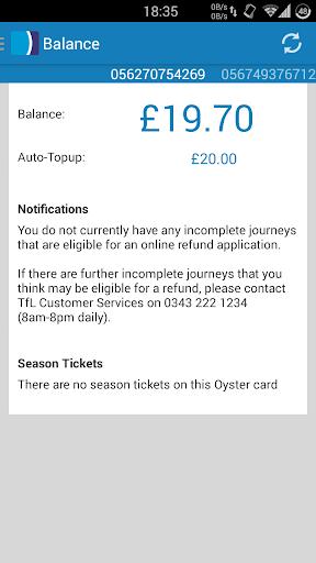Oyster Card Balance