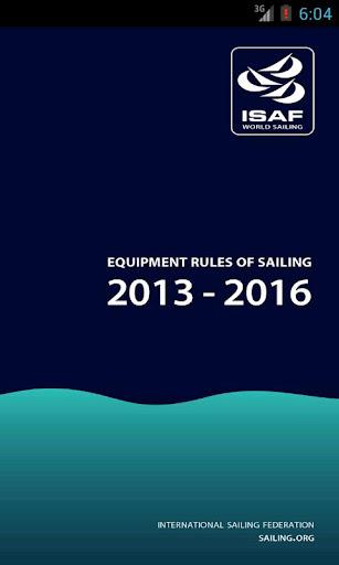 Equipment Rules of Sailing