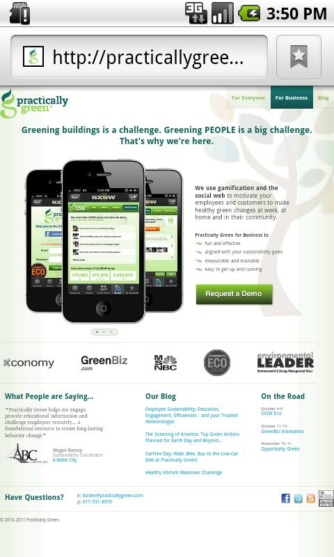 Opportunity Green 2011 - screenshot