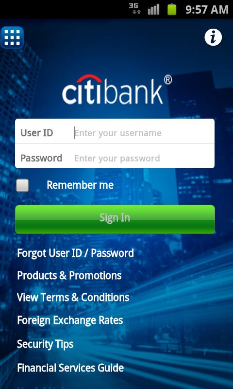 Citibank Australia - screenshot