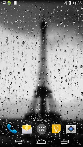 Rain In Paris Live Wallpaper