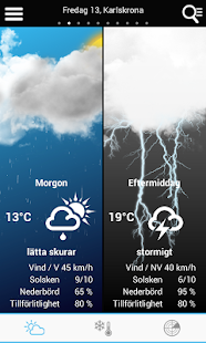 Weather for Sweden - náhled