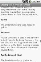 Screenshot of Encyclopedia of Trees and Shru